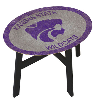 Kansas State Wildcats Team Color Side Table  FAN CREATIONS   C0825-Kansas State