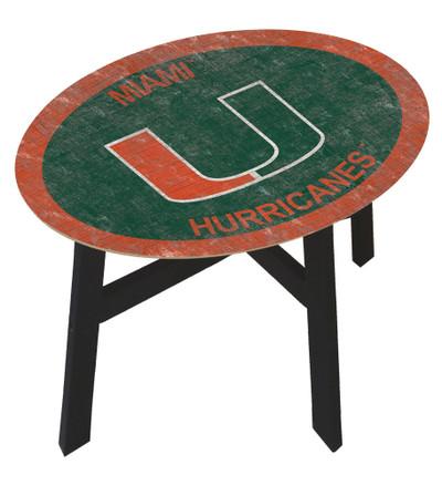Miami Hurricanes Team Color Side Table |FAN CREATIONS | C0825-Miami
