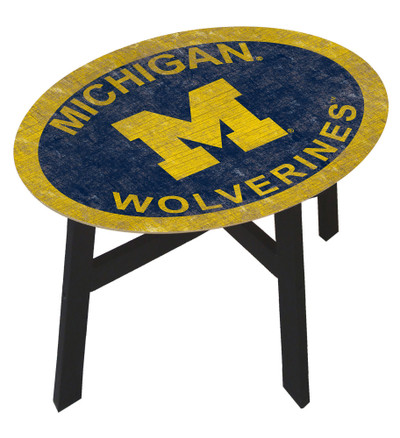 Michigan Wolverines Team Color Side Table |FAN CREATIONS | C0825-Michigan