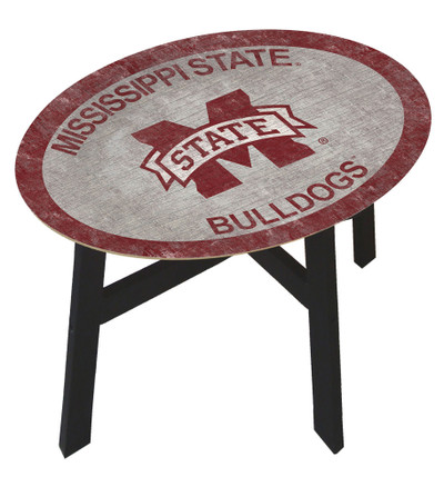 Mississippi State Bulldogs Team Color Side Table |FAN CREATIONS | C0825-Mississippi State