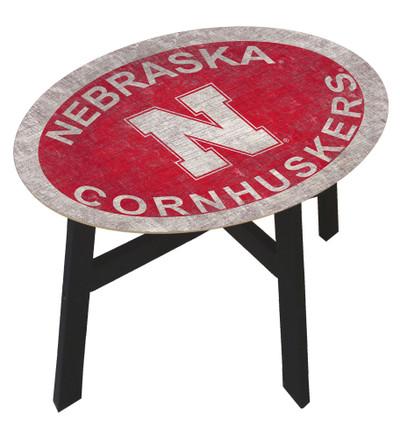 Nebraska Huskers Team Color Side Table  FAN CREATIONS   C0825-Nebraska