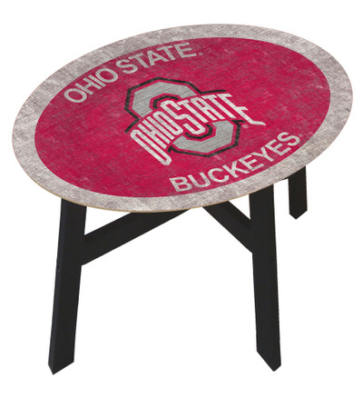 Ohio State Buckeyes Team Color Side Table  FAN CREATIONS   C0825-Ohio State