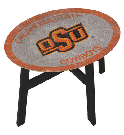 Oklahoma State Cowboys Team Color Side Table |FAN CREATIONS | C0825-Oklahoma State