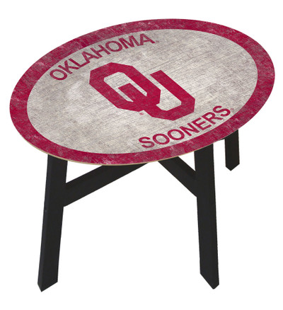 Oklahoma Sooners Team Color Side Table  FAN CREATIONS   C0825-Oklahoma