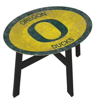 Oregon Ducks Team Color Side Table |FAN CREATIONS | C0825-Oregon