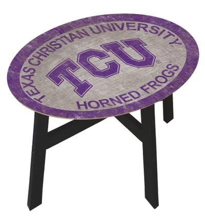 TCU Horned Frogs Team Color Side Table |FAN CREATIONS | C0825-TCU