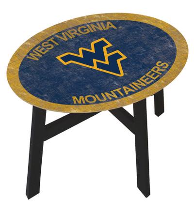 West Virginia Mounaineers Team Color Side Table  FAN CREATIONS   C0825-West Virginia