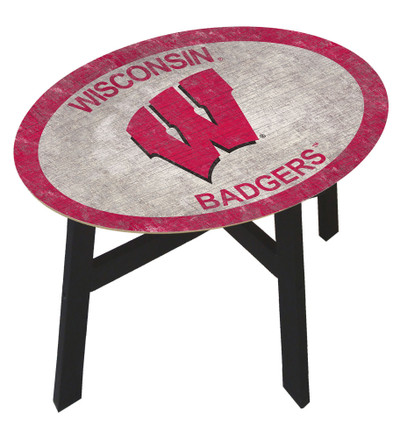 Wisconsin Badgers Team Color Side Table |FAN CREATIONS | C0825-Wisconsin