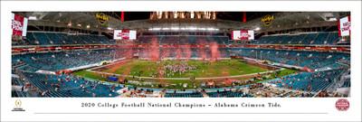 Alabama Crimson Tide 2020 National Champions Panoramic Photo Print | Blakeway | CFPC21UALU