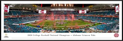 Alabama Crimson Tide National Champions 2020 Standard Frame Panoramic Photo  | Blakeway | CFPC21UALF
