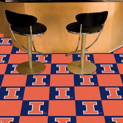 Illinois Fighting Illini Carpet Tiles | Fanmats | 8530