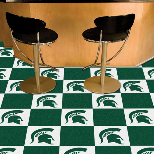 Msu Spartans Carpet Tiles