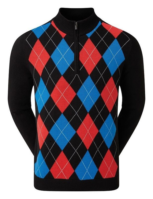 FJ MENS LINED WOOL PULLOVER - ARGYLE