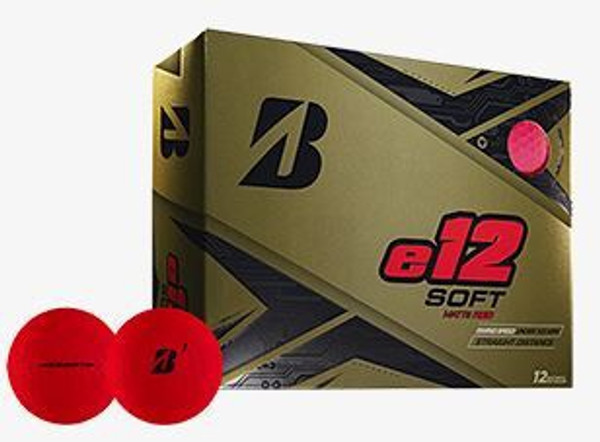 E12 Bridgestone Golf Ball - Red