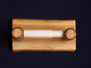 Log Toilet Paper Holder Wall Mount (Clear Finish)