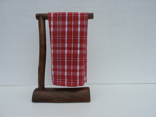 log countertop hand towel holder espresso stain