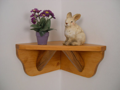 aspen log corner shelf