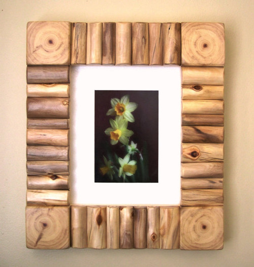 aspen mountain log cabin picture frame