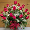 24 Red Roses Vased (SCF8004)  Savilles Country Florist.  Flower and Plant delivery to Orchard Park, NY and the surrounding area including same day delivery to Hamburg, West Seneca, East Aurora, Blasdell and Buffalo NY