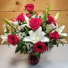 Lily & Rose Valentine Bouquet (SCF20V05) by Savilles Country Florist.  Flower and Plant delivery to Orchard Park, NY and the surrounding area including same day delivery to Hamburg, West Seneca, East Aurora, Blasdell and Buffalo NY