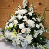 White Fireside Basket by Savilles Country Florist. Flower delivery to Orchard Park, Hamburg, West Seneca, East Aurora, Buffalo, NY and surrounding suburbs.