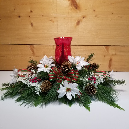 Illuminating Wishes (SCF17C13) by Savilles Country Florist.  Christmas Flower Arrangements, Centerpieces and Plant delivery to Orchard Park, NY and the surrounding area including same day delivery to Hamburg, West Seneca, East Aurora, Blasdell and Buffalo NY