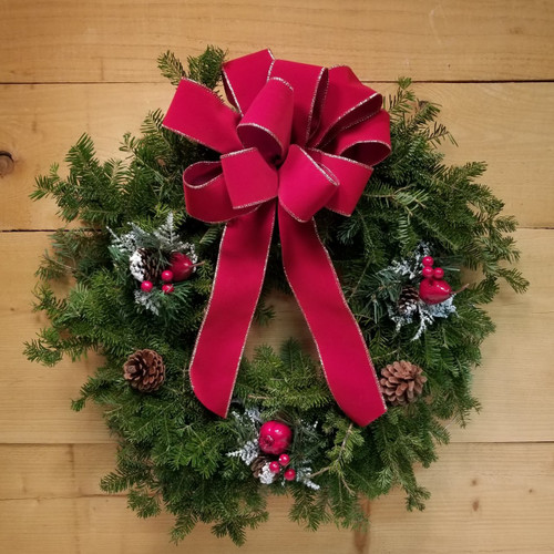 Decorated Evergreen Wreath (SCF17C08)