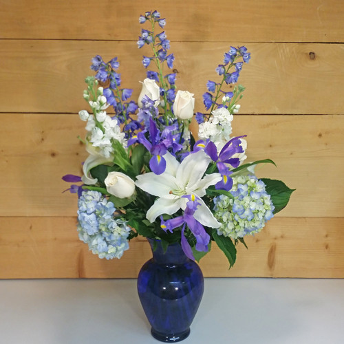 Blue Without You (SCF17S01) by Savilles Country Florist.  Flower and Plant delivery to Orchard Park, NY and the surrounding area including same day delivery to Hamburg, West Seneca, East Aurora, Blasdell and Buffalo NY