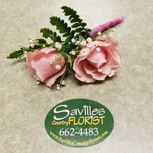 Pretty in Pink Boutonniere (BOUT106-PIP)