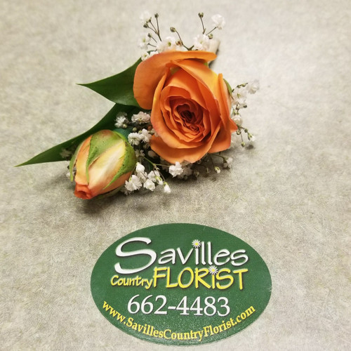 Orange Dream Boutonniere (BOUT109-OD)