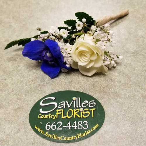 Blue Lagoon Boutonniere (COMBO111-BL)