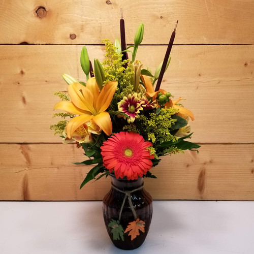 Forever Autumn (SCF17F09) by Savilles Country Florist.  Flower and Plant delivery to Orchard Park, NY and the surrounding area including same day delivery to Hamburg, West Seneca, East Aurora, Blasdell and Buffalo NY