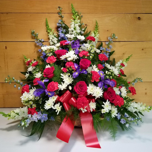 Red, White, Blue Fireside Basket (SCF18SY101)
