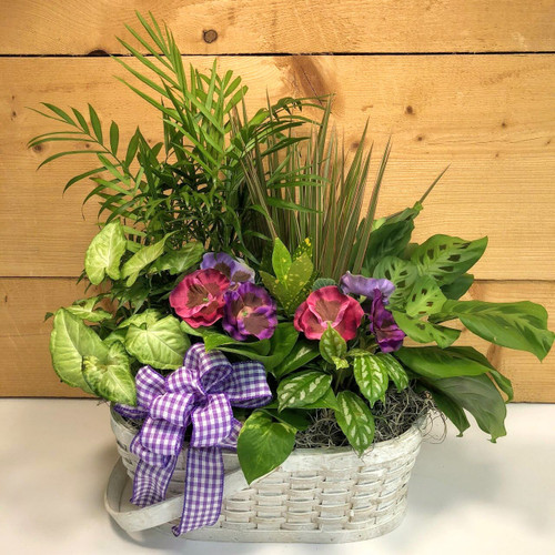 Purple Country Garden Large (SCFDG06) by Savilles Country Florist.  Flower and Plant delivery to Orchard Park, NY and the surrounding area including same day delivery to Hamburg, West Seneca, East Aurora, Blasdell and Buffalo NY