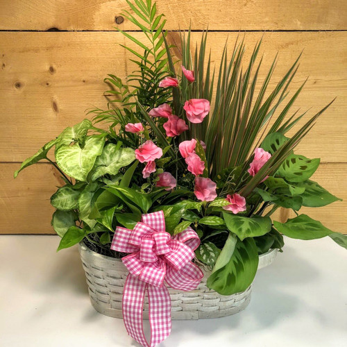 Pink Country Garden Large (SCFDG08) by Savilles Country Florist.  Flower and Plant delivery to Orchard Park, NY and the surrounding area including same day delivery to Hamburg, West Seneca, East Aurora, Blasdell and Buffalo NY