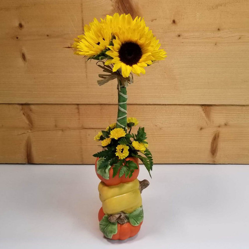 Pumpkin Patch Charm (SCF18F05) by Savilles Country Florist.  Flower and Plant delivery to Orchard Park, NY and the surrounding area including same day delivery to Hamburg, West Seneca, East Aurora, Blasdell and Buffalo NY