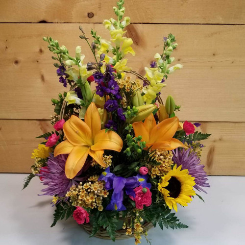 Happy Harvest (SCF18F21) by Savilles Country Florist.  Flower and Plant delivery to Orchard Park, NY and the surrounding area including same day delivery to Hamburg, West Seneca, East Aurora, Blasdell and Buffalo NY