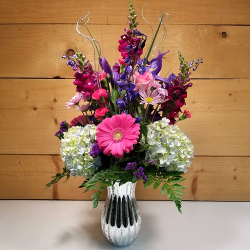 Silver Lining Bouquet (SCF20D11) by Savilles Country Florist.  Flower and Plant delivery to Orchard Park, NY and the surrounding area including same day delivery to Hamburg, West Seneca, East Aurora, Blasdell and Buffalo NY