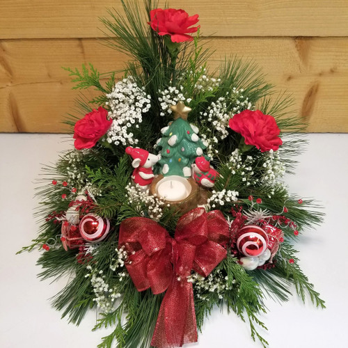 Festive Friendship (SCF18C19) by Savilles Country Florist.  Christmas Flower Arrangements, Centerpieces and Plant delivery to Orchard Park, NY and the surrounding area including same day delivery to Hamburg, West Seneca, East Aurora, Blasdell and Buffalo NY