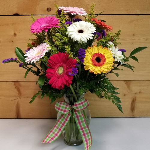 You Make Me Smile (SCF19D01) by Savilles Country Florist.  Flower and Plant delivery to Orchard Park, NY and the surrounding area including same day delivery to Hamburg, West Seneca, East Aurora, Blasdell and Buffalo NY