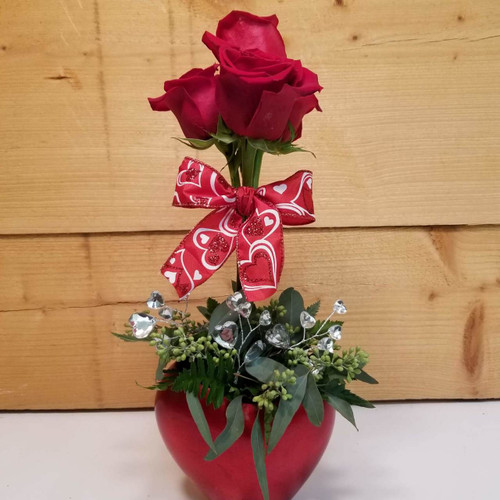 Topiary Bling (SCF19V02) by Savilles Country Florist.  Valentine's Day Flower and Plant delivery to Orchard Park, NY and the surrounding area including same day delivery to Hamburg, West Seneca, East Aurora, Blasdell and Buffalo NY