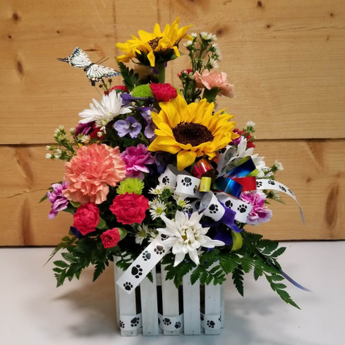 The Rainbow Bridge (SCF19D06) by Savilles Country Florist.  Flower and Plant delivery to Orchard Park, NY and the surrounding area including same day delivery to Hamburg, West Seneca, East Aurora, Blasdell and Buffalo NY