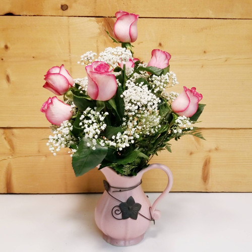 Pitcher of Love (SCF19D40) by Savilles Country Florist.  Flower and Plant delivery to Orchard Park, NY and the surrounding area including same day delivery to Hamburg, West Seneca, East Aurora, Blasdell and Buffalo NY