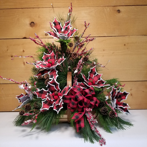 Fireside Christmas (SCF19C08) by Savilles Country Florist. Christmas Flower Arrangements, Centerpieces and Plant delivery to Orchard Park, NY and the surrounding area including same day delivery to Hamburg, West Seneca, East Aurora, Blasdell and Buffalo NY