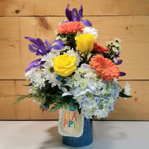 Happy Day Bouquet (SCF20D13) by Savilles Country Florist.  Flower and Plant delivery to Orchard Park, NY and the surrounding area including same day delivery to Hamburg, West Seneca, East Aurora, Blasdell and Buffalo NY
