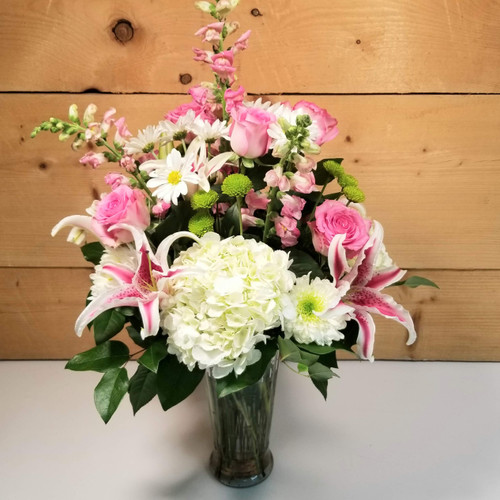 Tender Touch Premium Vase (SCF20D16) by Savilles Country Florist.  Flower and Plant delivery to Orchard Park, NY and the surrounding area including same day delivery to Hamburg, West Seneca, East Aurora, Blasdell and Buffalo NY