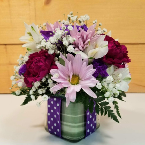 Polka Dot Blooms Bouquet - Purple (SCF7022pur)