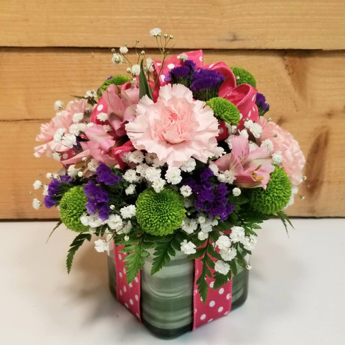 Polka Dot Blooms Bouquet - Pink (SCF7022pnk)