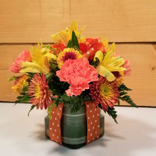 Polka Dot Blooms Bouquet - Orange (SCF7022org)