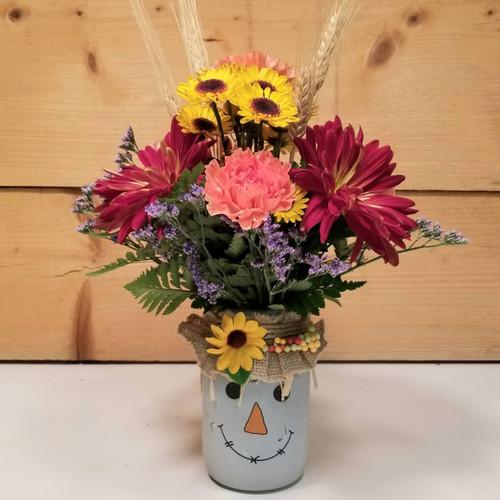Mason Jar Scarecrow (SCF21D52)